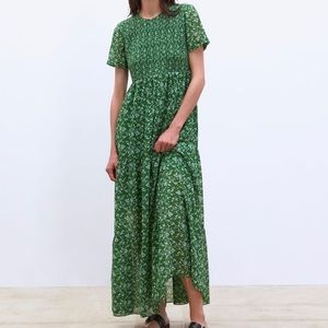 Zara Floral Print Maxi Dress XS